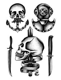 Inspirational Old School Skull Tattoo Designs 25 For Your Simple Men With