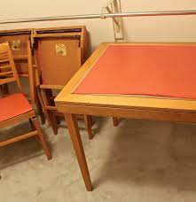 Stakmore Folding Chair Vintage by Vintage Norquist Folding Table And Chairs Ebth