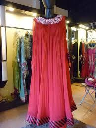 Red Pakistani Party Wear Dress Source Pakifashion