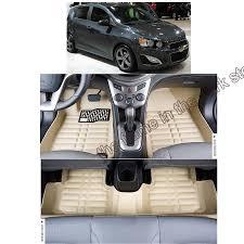 Oxgord Rubber Floor Mats by Leather Car Floor Mat Carpet Rug For Chevrolet Aveo Sonic T300 2nd