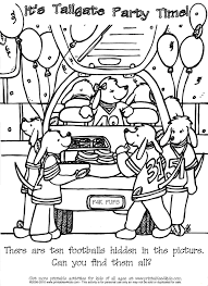 Football Party Hidden Pictures Coloring Page Printables For Kids Free Word Search Puzzles Pages And Other Activities
