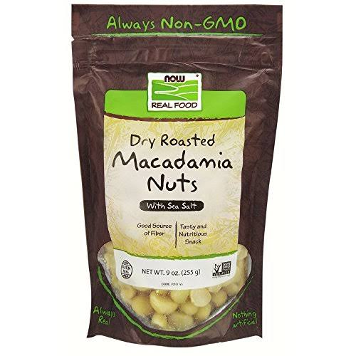 Now Foods Macadamia Nuts - Dry Roasted and Salted, 255g