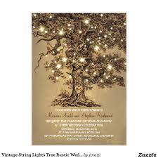 Vintage String Lights Tree Rustic Wedding Invites This Stunning Old Oak Invitation Template