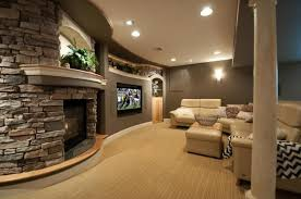 contemporary living room with wall sconce carpet in lancaster