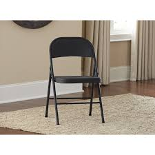 cosco steel folding chair set of 4 walmart com