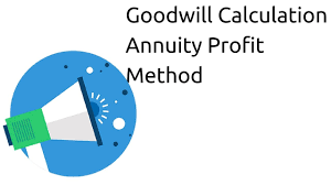 Sinking Fund Calculator Weekly by Goodwill Calculation Annuity Profit Method Profit U0026 Loss