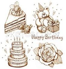 birthday drawings Coloring Birthday party Drawing Picture Birthday party art Pinterest