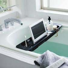 ausziehbare ablage für badewanne schwarz yamazaki