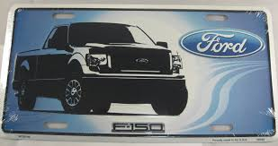 Ford Truck F-150 Aluminum Embossed License Plate | DMSE Wholesale