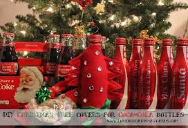 DIY Christmas Tree Covers For Coca Cola Bottles