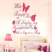 Baby Bedroom Wall Art Kids Room Butterfly Wall Quotes Vinyl Wall