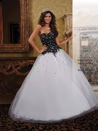 black and white quinceanera dresses 2016 classic debut ball
