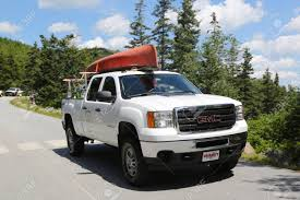 100 Acadia Truck BAR HARBOR MAINE JULY 3 2017 GMC Loaded With Kayak