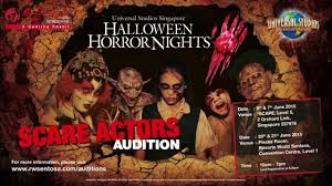 Halloween Horror Nights Express Pass Singapore by Audition Call Universal Studios Singapore Halloween Horror Nights