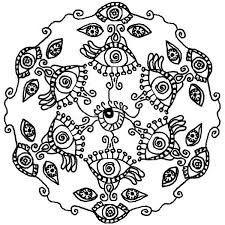 All Seeing Eye Mandala Coloring Pages
