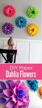 Paper Flowers Are Great Decorations For The Nursery Wall