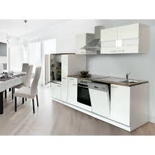 respekta küchenzeile ohne e geräte 310 cm weiß