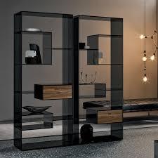 designregal raumteiler aus glas liber