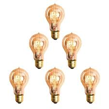 new a19 e26 e27 60w filament light bulbs vintage retro industrial