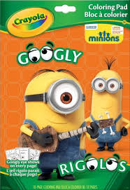 Crayola Googly Eyes Minions Colouring Book