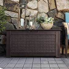 plastic deck boxes patio storage you ll love wayfair