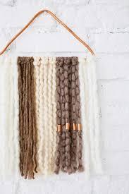 DIY Wall Hanging With Copper Yarn