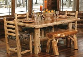 Rustic Kitchen Tables Collection In Table With Bench Set Image