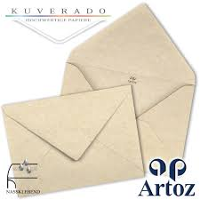 ARTOZ 50x Briefumschläge DIN Lang Birkengrün 100 Gm² SEIDENFUTTER