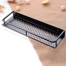 badezimmer regal schwarz aluminium einzelregale dusche aufbewahrungsgestell