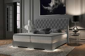 baron luxus boxspringbett premium grau stoff 100 140 160 180 200
