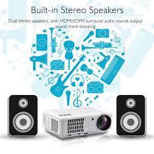 irulu rd 804 hd home cinema projector audio stero led bulb