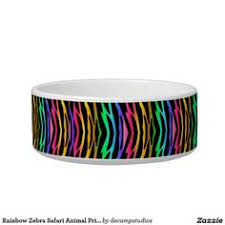 Rainbow Zebra Print Bedroom Decor by Rainbow Zebra Safari Animal Print Round Pouf Zebra Print Room