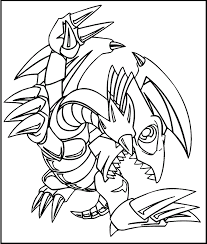 Yu Gi Oh Blue Eyes Toon Dragon Coloring Picture For Kids