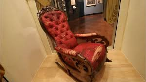 #803 ABRAHAM LINCOLN's Assassination Chair & The ROSA PARKS Bus! - Daily  Travel Vlog (10/18/18) Rocking Chair In Lincoln Lincolnshire Gumtree Tells A Story Beyond The Assination Abraham From Fords Theatre Before Cherry Rocker Classic Rock Antiques Lincoln Rocker Arthipstory Showing Photos Of Upcycled Chairs View 1 20 Antique 1890 Victorian Wood Cane Back All Re A 196070s Rocking Designed By Torbjrn President Was Assinated This Today Lincolns Placed Open Plaza Antiquer Reupholstery On Wheels 1880 German Bible My First