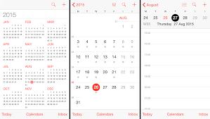 iPhone Calendar Week View