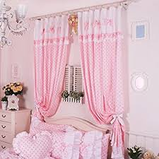 Amazon Uk Living Room Curtains by Fadfay Home Textile Cute Pink Polka Dot Living Room Curtains