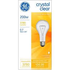 ge 200 watt clear a21 light bulb 1 pack walmart