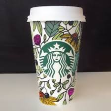 Meet 20 Year Old Brita Lynn Thompson The Woman Behind Starbucks White Cup Contest Winning Design Which Will Be Printed On Plastic Reusable Cups This Fall