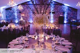 Holly Hedge Wedding Rustic Chic Dining Room Uplighting