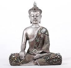 intrendu buddha figur groß 40cm meditierend buddhismus