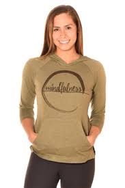 Mindfulness On Moss Pullover Hoodie