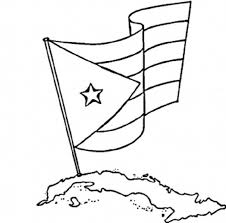 National Flag Of Cuba To Color
