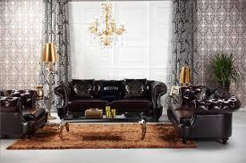 Transitional Living Room Leather Sofa by Divani Casa D6022 Transitional Chocolate Italian Leather Sofa Set