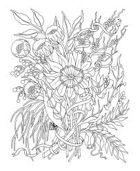 Detailed Flower Coloring Pages For Adults