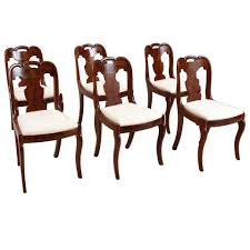 Set Of Six American Empire Dining Chairs Circa 1830