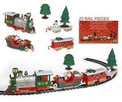 Musical Christmas Train Carriages Novelty Tree Set Lights