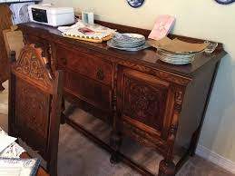 Jacobean Carved Dining Room Buffet Cabinet