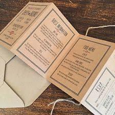 Handmade Folded Wedding Invitations Rose Pink Brown Card Vintage Rustic Style