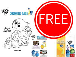 FREE Disney Inside Out Coloring Pages Door Hangers Activity Sheets More