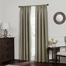 Bed Bath And Beyond Curtains Draperies by Emery Rod Pocket Insulated Total Blackout Window Curtain Panel
